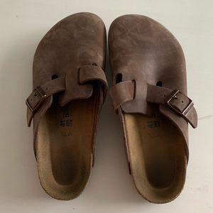 Brown Birkenstock Clogs
